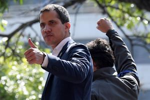 Venezuelan opposition leader Juan Guaido is seeking a widespread army uprising against President Nicolas Maduro, who has overseen a 50 per cent collapse in the economy.