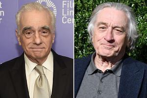 Director Martin Scorsese (left) said The Irishman represents a return to the mobster tales that he and actor Robert De Niro (right) are well known for, but hopefully from a different vantage point.