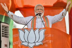 The ruling Bharatiya Janata Party has showered money on Facebook and Google advertisements, spending six times more than Congress since February, according to data from the two firms. Mr Modi merchandise abounds, as do Mr Modi marketing sites.