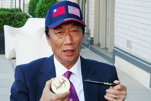 Terry Gou is seeking the nomination of the Beijing-friendly Kuomintang opposition party to run for president in next year's elections.