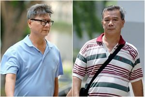 Shui Poh Sing (left) and Shui Poh Chung had under-declared their income by about $708,000 for six years.