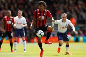 Bournemouth's Nathan Ake in action against Tottenham, on May 4, 2019.
