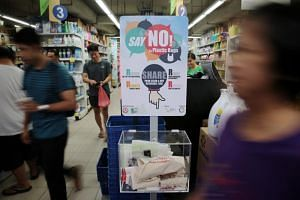 The reusable bag sharing stations are placed at the Sheng Siong and FairPrice supermarkets at Khatib Central.