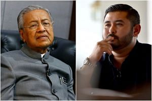 Malaysia's Prime Minister Mahathir Mohamad (left) and Tunku Ismail Sultan Ibrahim had argued back and forth on whether under the Constitution, the federal government or the royal family has the ultimate right to administer the state government and ap