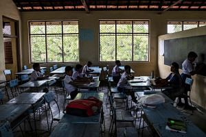Despite the tight security and military patrols, most classrooms in Sri Lanka were near empty on Monday. Private schools, including Catholic institutions, remained closed.