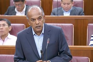 Home Affairs and Law Minister K. Shanmugam gave details of the appeal process under the fake news Bill, setting out timelines for various stages. PHOTO: GOV.SG