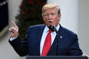 US President Donald Trump speaking during an event in the Rose Garden of the White House in Washington, DC, on May 6, 2019.