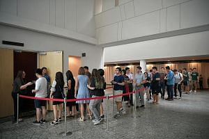 Students queuing to attend a townhall meeting on sexual misconduct at NUS University Town recently. The standard adopted by more than 960 companies covers sexual harassment complaints and goes one step further to help job seekers identify employers w