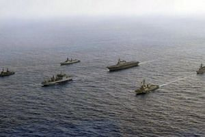 While similar exercises have been held in the South China Sea in the past, the combined display by Japan, India, the Philippines and the US represents a fresh challenge to Beijing.