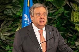 In a strong message for action on climate change, UN Secretary General Antonio Guterres said international political resolve was fading.
