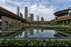 Artist Charles Lim's Sea State 9: Proclamation Garden is on the roof of the National Gallery Singapore.