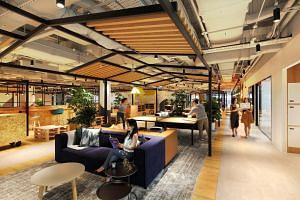 Homegrown co-working operator JustCo's outlet in Marina Square.