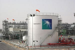 Oil tanks at a plant in Haradh, Dhahran, Saudi Arabia. Saudi Energy Minister Khalid al-Falih said the attack on the two oil pumping stations had not disrupted oil production or exports of crude and petroleum products.