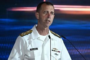 In an earlier speech, the head of operations of the United States Navy, John Richardson, said that US naval operations had been consistent over decades and had not risen recently.