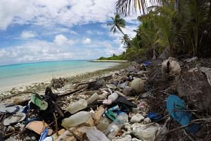 A team of experts travelled to the Cocos Islands, a group of 27 small atolls 2,100 kilometres west of Australia and found an estimated 414 million pieces of plastic.