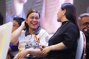 Ms Sara Duterte-Carpio at a senatorial campaign event for Hugpong ng Pagbabago, an alliance she formed that is made up of political parties and powerful clans. PHOTO: REUTERS