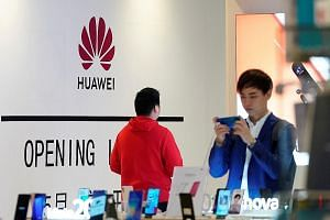 Huawei has been the leading supplier of 5G network equipment, but the US move to ban Huawei from acquiring components from US firms without government approval could wreak havoc on supply chains. PHOTO: REUTERS