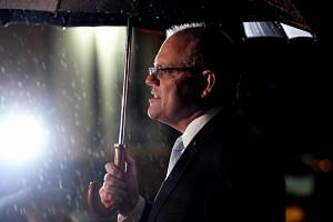 An Ipsos poll shows Prime Minister Scott Morrison's coalition government losing to the Labor party as he fails to woo voters with a campaign centred on his government's projection to deliver Australia's first budget surplus in more than 10 years.