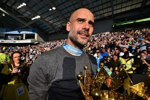 The Premier League trophy is the third won by Manchester City manager Pep Guardiola this season, after the Community Shield and League Cup. He is eyeing the FA Cup today.