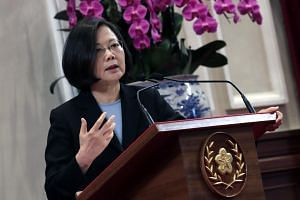 Taiwanese President Tsai Ing-wen used the opportunity to tout her government's 'Made in Taiwan upgrade' policy, aimed at exporting the country's expertise in artificial intelligence, green energy and technology.