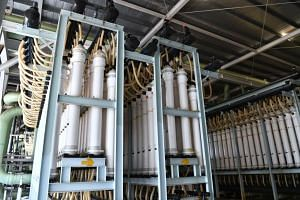 Ultra filtration membranes at the Tuaspring desalination plant, that is part of the Tuaspring Integrated Water and Power Plant that had cost Hyflux $1.05 billion.