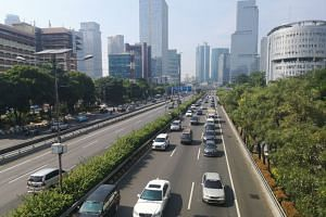 Jakarta as seen at 9.30am local time on Thursday (May 23). The city is beginning to return to normal after the capital saw two days of violent protests against the results of last month's election.