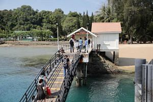 The programme includes a brief walking tour of Sentosa, which is the largest of Singapore's Southern Islands, followed by a ferry ride from One Degree 15 Marina Sentosa Cove to Kusu, St John's (above) and Lazarus islands.