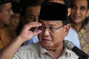 Losing Indonesian presidential candidate Prabowo Subianto (above) claimed that he and his running mate Sandiaga Uno had lost votes because millions of fictitious names were added to voter rolls.