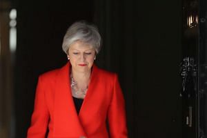 British Prime Minister Theresa May arrives to deliver a statement in London, Britain, on May 24, 2019.