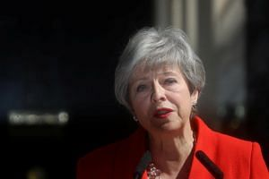British Prime Minister Theresa May delivers a statement in London, Britain, on May 24, 2019.