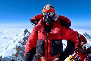 Singaporean adventurer and mountaineer Khoo Swee Chiow has become the first South-east Asian to scale the world's three highest peaks - Mount Everest, K2 and Kangchenjunga.