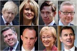 (Clockwise from top left) Boris Johnson, Esther Mcvey, Rory stewart, Michael Gove, Jeremy Hunt, Andrea Leadsom, Dominic Raab and Graham Brady are widely-expected to run for Prime Minister.