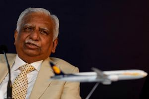 Former Jet Airways chief Naresh Goyal was taken into custody at Mumbai's international airport along with his wife Anita after the authorities recalled the Dubai bound Emirates flight as it headed to the runway for take-off.