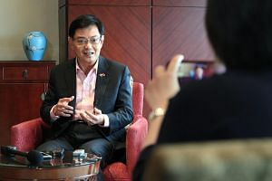 Deputy Prime Minister Heng Swee Keat speaking to Singapore media in Shenzhen on May 28, 2019, in an interview wrapping up his visit to mainland China.