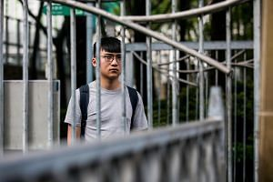 Isaac Cheng at Victoria Park in Hong Kong, the site of the annual June 4 vigil that remembers the victims of the Tiananmen Square incident in 1989.