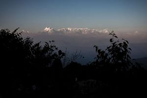 A general view of the Himalayas from the hill-station of Kausani in the northern Indian state of Uttarakhand.