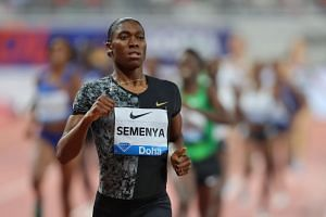 South Africa's Caster Semenya competes in the women's 800m during the IAAF Diamond League competition in Doha on May 3, 2019.