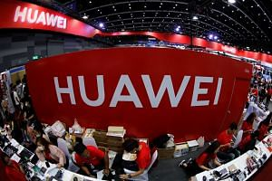 The Huawei stand at the Mobile Expo in Bangkok, Thailand May 31, 2019.