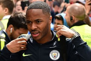 Manchester City midfielder Raheem Sterling arriving for a Premier League match against Brighton and Hove Albion.