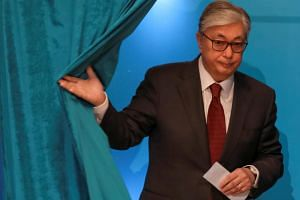 "Career diplomat Kassym Jomart-Tokayev took just over 70 per cent of the vote, according to the government-approved ""Public Opinion"" pollster."