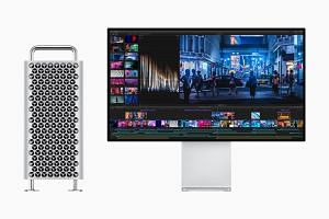 The Mac Pro supports up to 28-core Intel Xeon processors, up to a whopping 1.5TB of system memory across 12 RAM slots and up to four graphics processing units using Apple's new MPX module, while the Pro Display XDR uses a direct backlighting system w