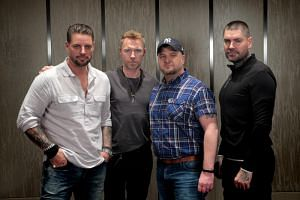 (From left) Keith Duffy, Ronan Keating, Mikey Graham and Shane Lynch from Boyzone.