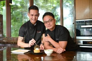 Growing up, Joe Leong (left) would only see his father, celebrity chef Sam Leong, on his day off or when the family went for lunch at the restaurants he worked at.