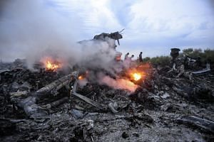 Debris of MH17, which was shot down while flying over eastern Ukraine near Donetsk, on July 17, 2014.