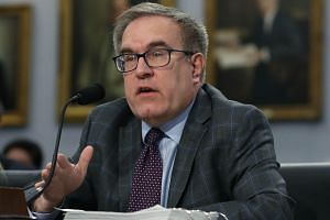 EPA Administrator Andrew Wheeler testifies during a House Appropriations Subcommittee hearing on Capitol Hill, on April 2, 2019, in Washington, DC.