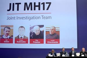 International investigators presenting their latest findings in the downing of Malaysia Airlines flight MH17, nearly five years after the crash that killed 298 passengers and crew, in the Netherlands on June 19, 2019.