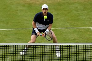 Britain's Andy Murray delighted the crowd with fluent shot-making at the Queen's Club championships on Thursday (June 20).