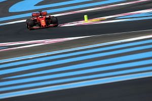 Vettel in action during the first practice session for the French grand prix.