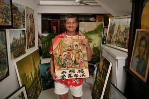 Mr Sim Kah Lim, whose paintings sell for between $1,200 and $8,000, suffers from schizophrenia and has been hospitalised at the Institute of Mental Health for the past 36 years.