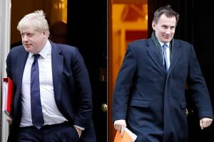 After five rounds of secret voting by MPs, former London mayor Johnson (left) and Foreign Secretary Hunt are the two final contenders for prime minister out of an original field of 13 hopefuls.